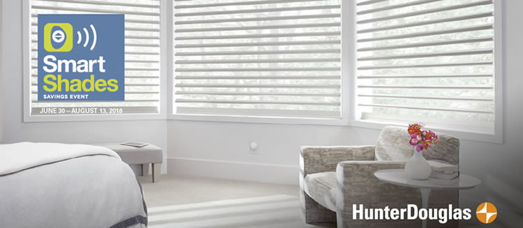 Hunter Douglas Smart Shades Savings Event June 30 August 13 2018